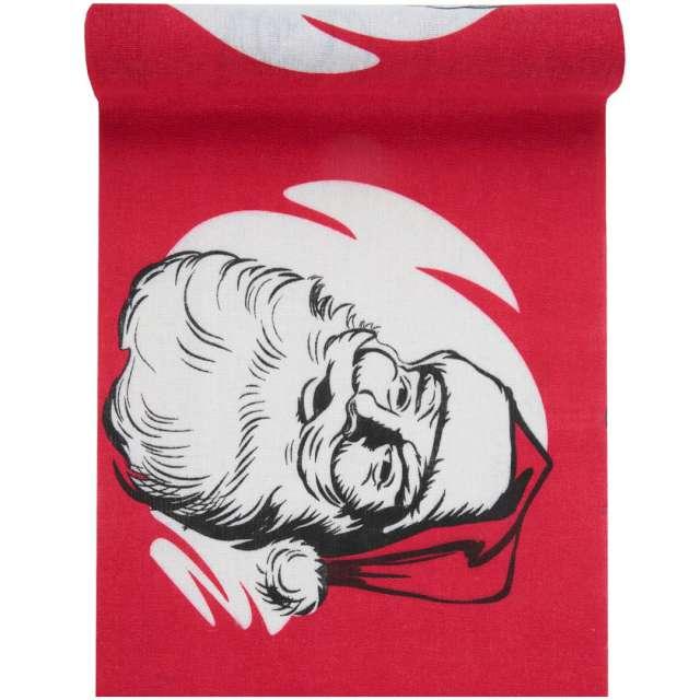 """Bieżnik """"Święty Mikołaj - Retro"""", czerwony, Santex, 300 x 28 cm"""