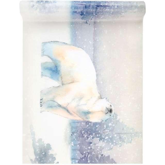 """Bieżnik """"Miś polarny w mroźnej scenerii"""", Santex, 500 x 30 cm"""