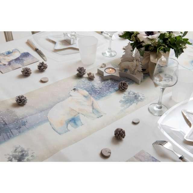 Bieżnik Miś polarny w mroźnej scenerii Santex 500 x 30 cm