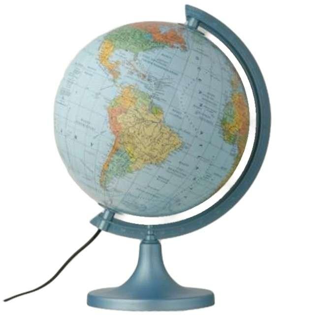 Globus szkolny Polityczno-fizyczny podświetlany Zachem 38 x 25 cm