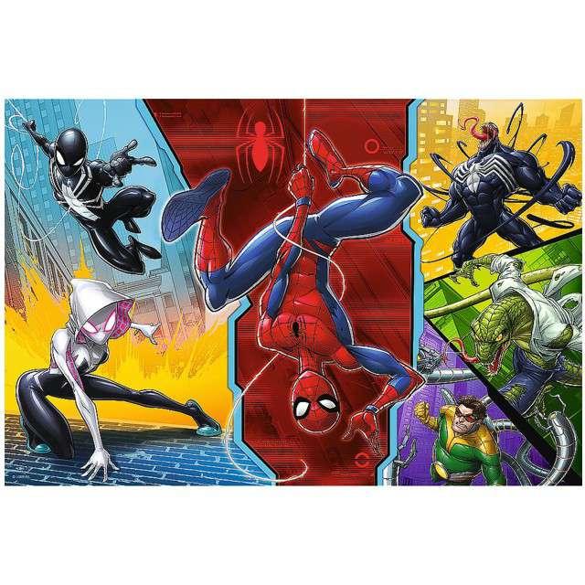 Puzzle Spider-Man - do góry nogami Trefl 100 elementów
