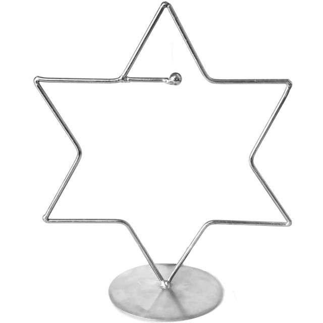 _xx_Stojak do bombki gwiazda 80mm srebrny