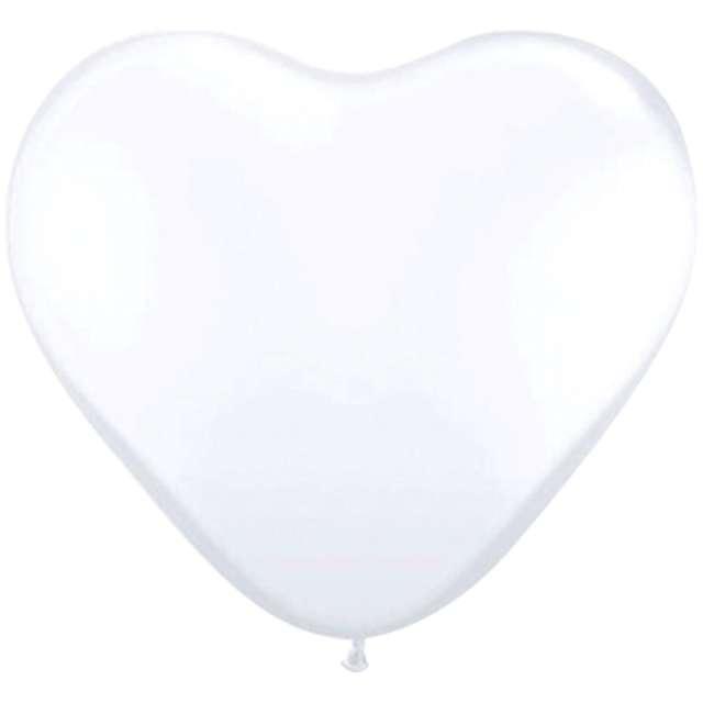 Balony Serca białe Folat 12 8 szt
