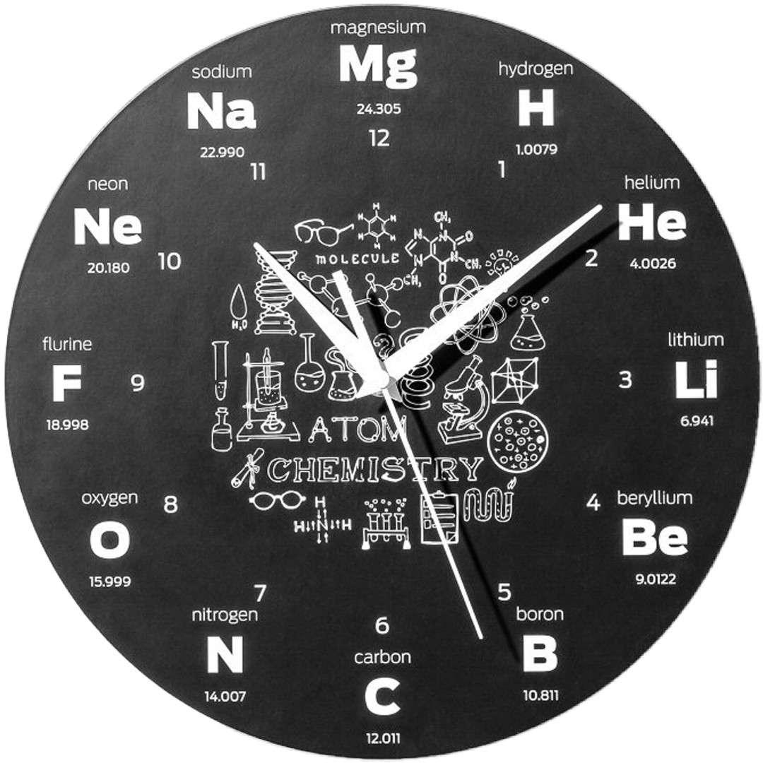 """Zegar ścienny """"Dla chemika"""", GadgetMaster"""