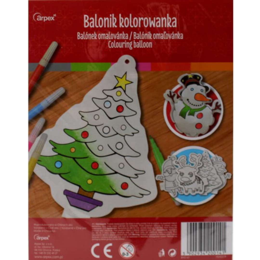 Balonik Mini kolorowanka - Bałwanek foliowy Arpex