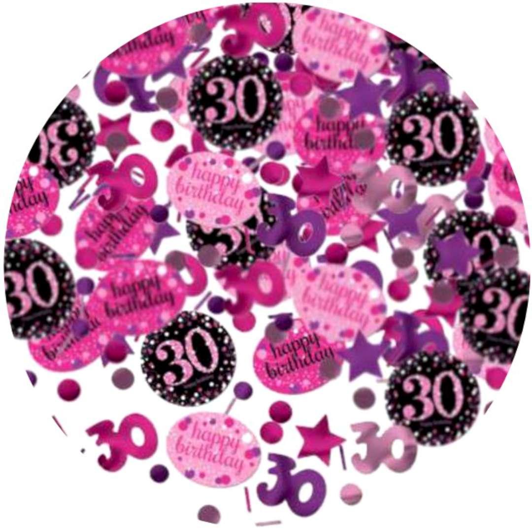 """Konfetti """"30 Urodziny - Sparkling Celebrations Pink"""", AMSCAN, 34 g"""