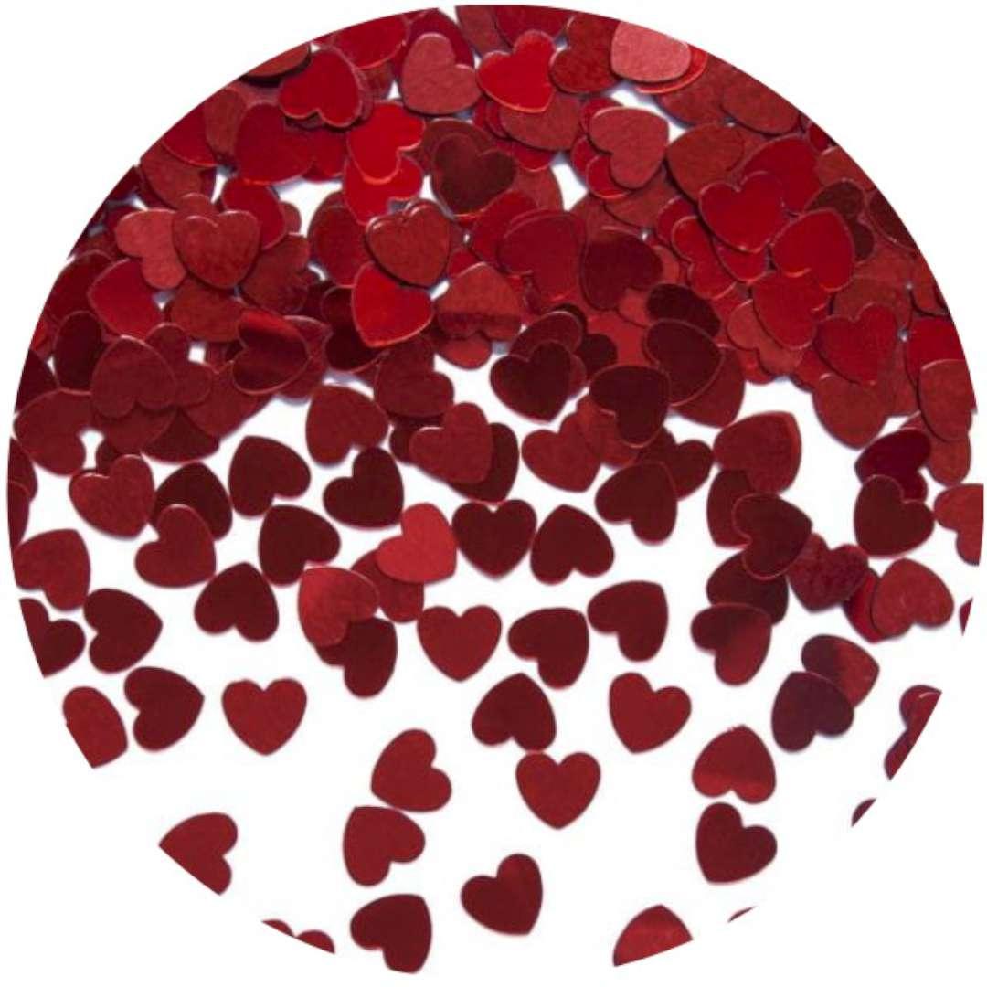 "Konfetti ""Serca czerwone"", 6 mm, 30 g."