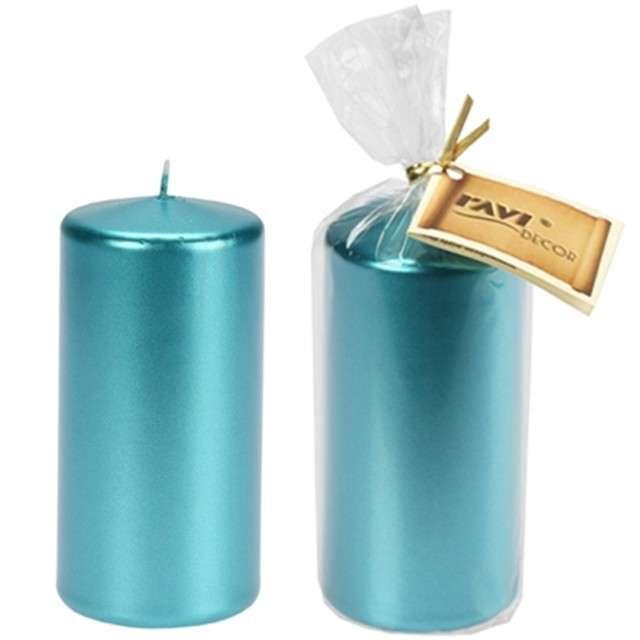 Świeca Pieńkowa metalik niebieska 120 mm Ravi