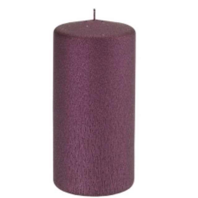 """Świeca """"Pieńkowa karbowana"""", ciemny fiolet, 120 mm, Ravi"""