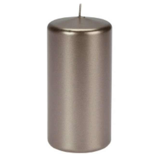"""Świeca """"Pieńkowa metalik"""", szaro-brązowa, 120 mm, Ravi"""