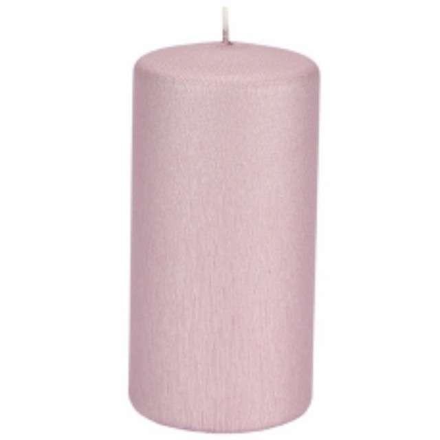 Świeca Pieńkowa karbowana jasno różowa 120 mm Ravi