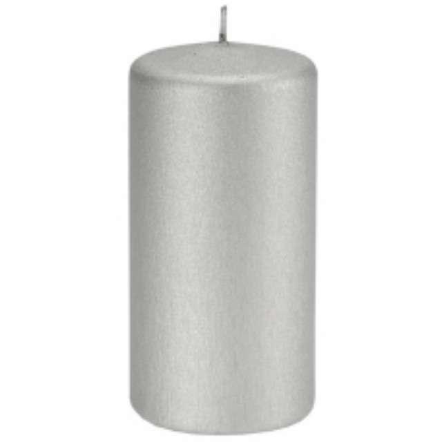 "Świeca ""Pieńkowa karbowana"", jasno srebrna, 120 mm, Ravi"