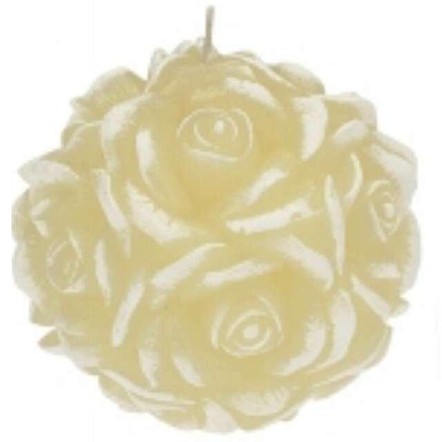 """Świeca zapachowa """"Słodka Róża"""", biało-kremowa, Ravi"""