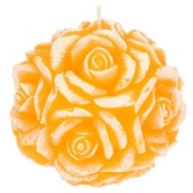 """Świeca zapachowa """"Słodka Róża"""", biało-pomarańczowa, 10cm, Ravi"""