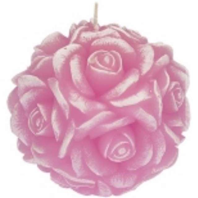 """Świeca zapachowa """"Słodka Róża"""", biało-różowa, 10cm, Ravi"""