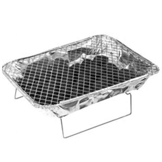 Grill jednorazowy Piknikowy zestaw z węglem Ravi