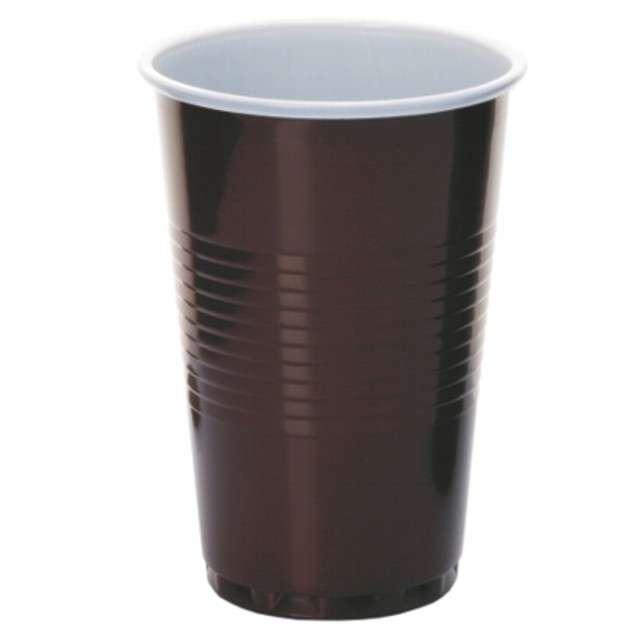 """Kubki jednorazowe """"Do gorących napojów"""", brąz, Ravi, 200ml, 12szt"""