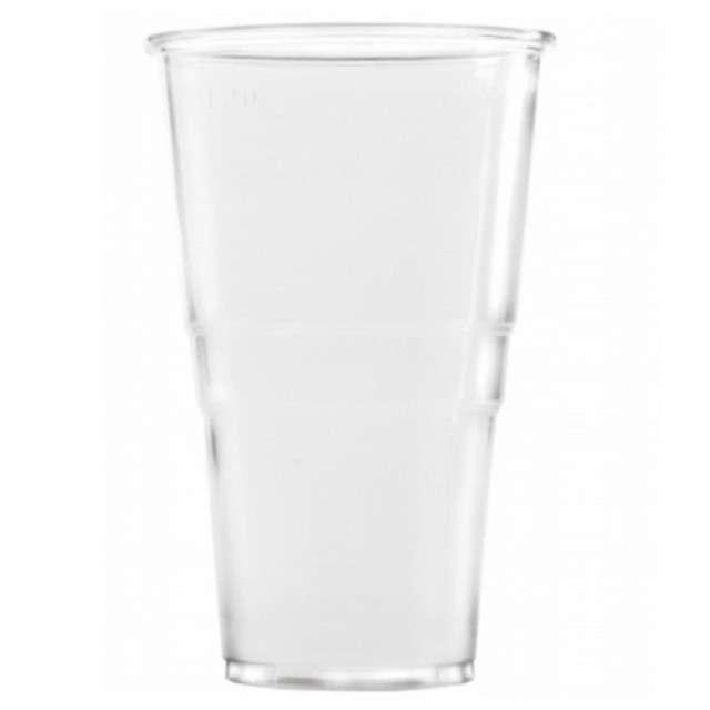"""Kubki jednorazowe """"Do zimnego piwa"""", transparent, Ravi, 400ml, 6szt"""