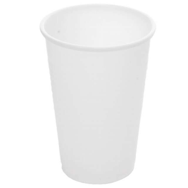 """Kubki jednorazowe """"Do zimnych napojów"""", białe, Ravi, 200ml, 12szt"""