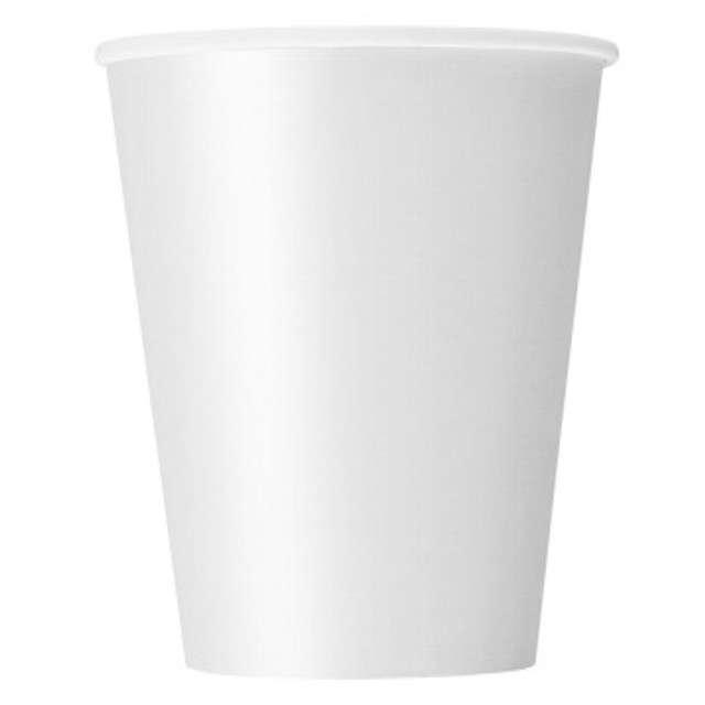 Kubki papierowe Do napojów białe Ravi 250ml 6szt