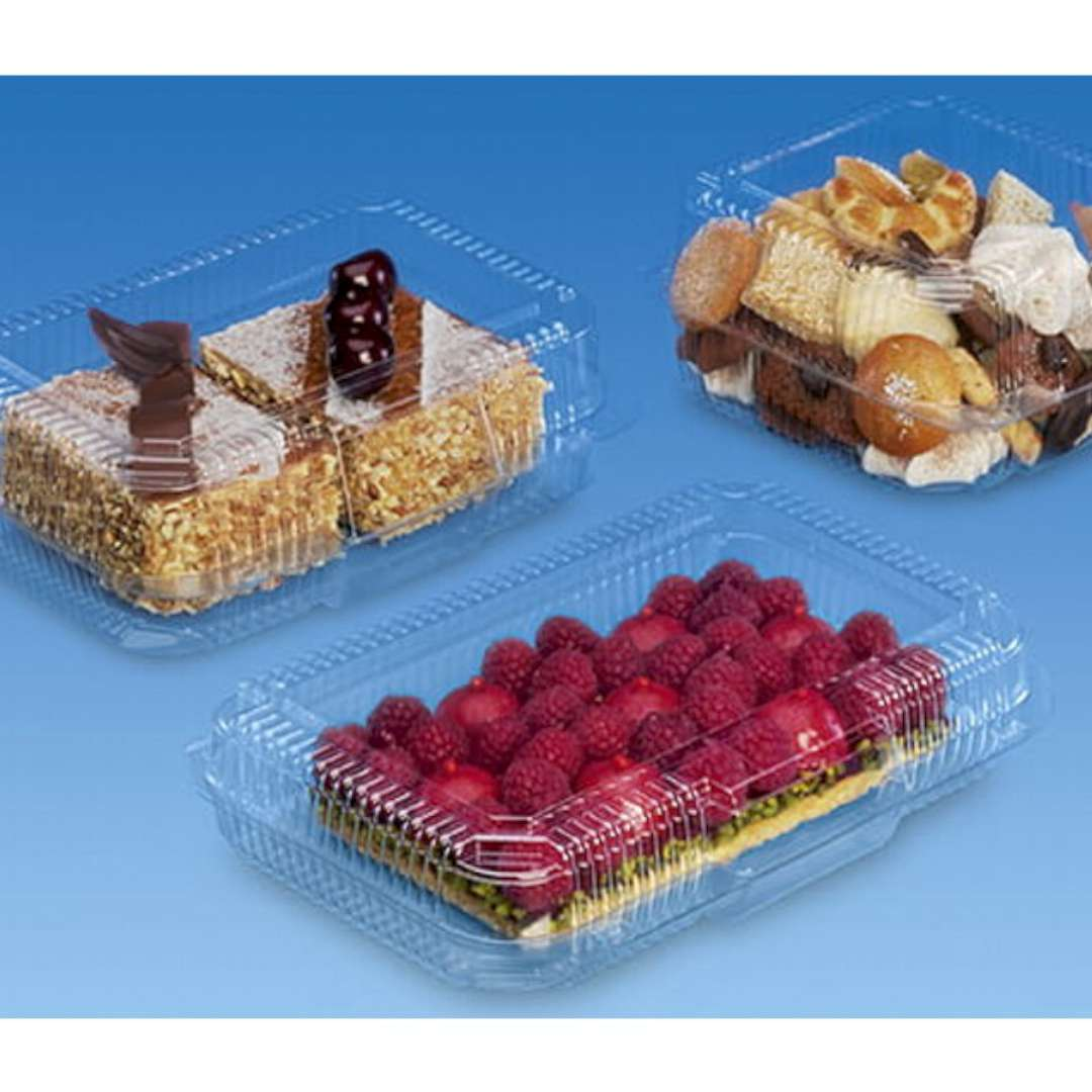 Pojemniki Plastikowe na ciasto 900ml Ravi 10 szt
