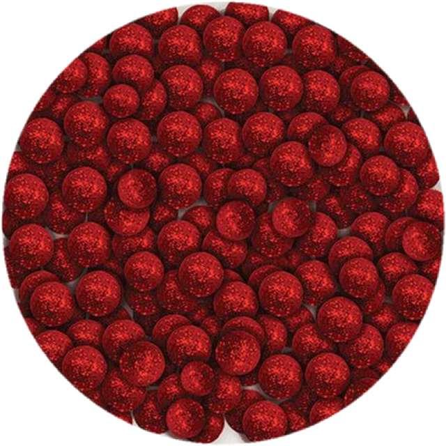 """Styropian """"Kuleczki brokatowe"""", czerwone, Titanum, 20 g"""