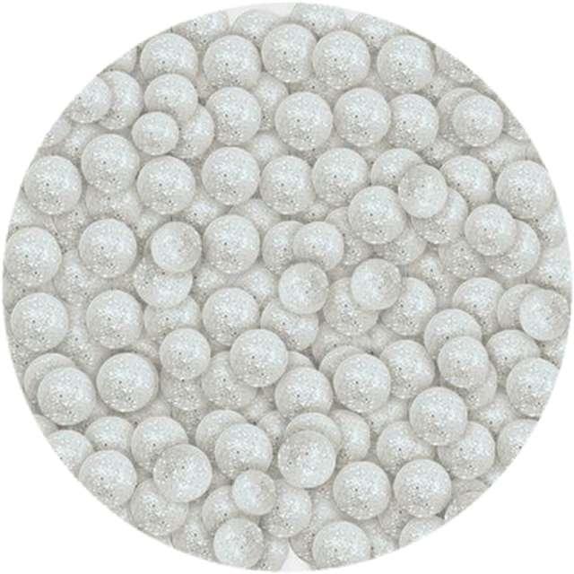 Styropian Kuleczki brokatowe białe Titanum 20 g