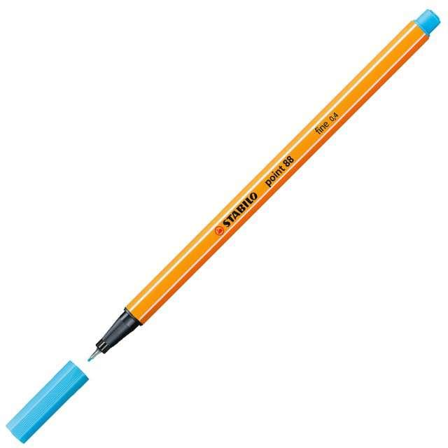 """Cienkopis """"Point 88"""", jasny niebieski 57, gr.0,4mm, Stabilo"""