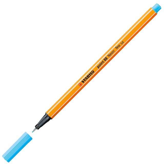 """Cienkopis """"Point 88"""", neonowy niebieski 031, gr.0,4mm, Stabilo"""