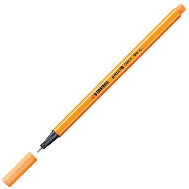 """Cienkopis """"Point 88"""", neonowy pomarańczowy 054, gr.0,4mm, Stabilo"""