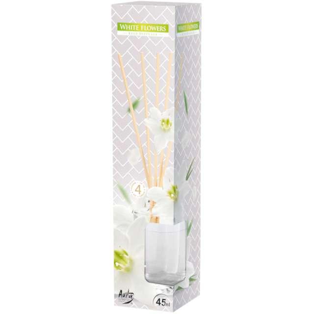 Odświeżacz zapachowy Białe kwiaty patyczki Bispol 45 ml