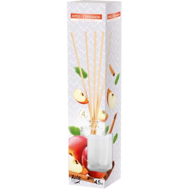 Odświeżacz zapachowy Jabłko z cynamonem patyczki Bispol 45 ml