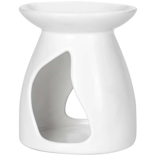 """Kominek ceramiczny """"Na wosk zapachowy"""", biały, Bispol"""