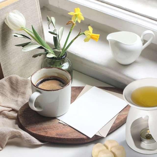 Kominek ceramiczny Na wosk zapachowy biały Bispol