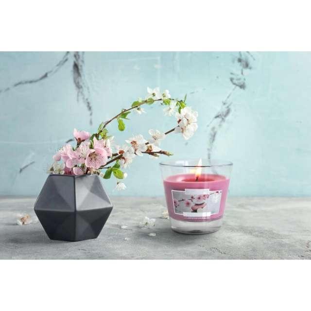Świeca zapachowa w szkle Aurelia Białe kwiaty Bispol 8 cm