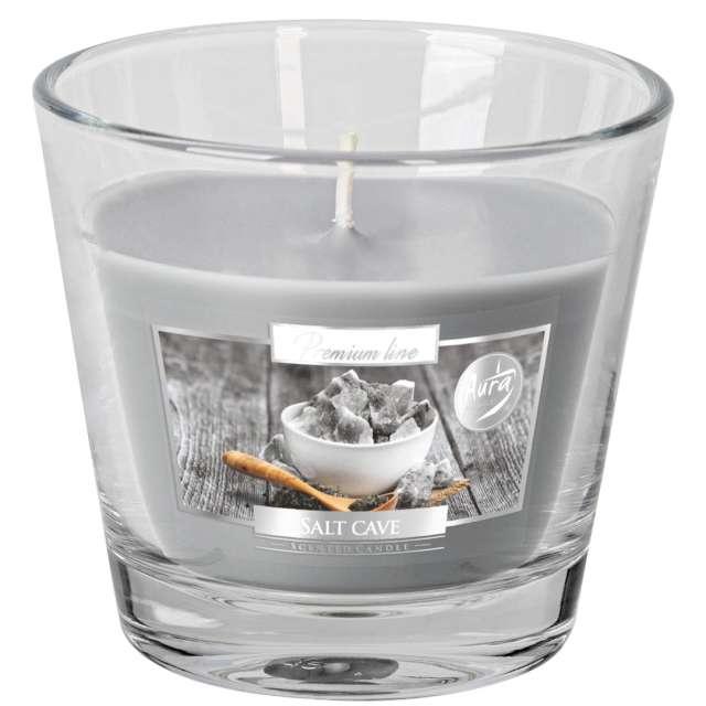 Świeca zapachowa w szkle Aurelia Grota solna Bispol 8 cm