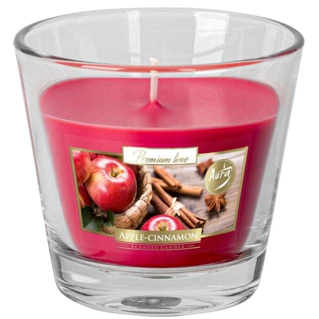 """Świeca zapachowa w szkle Aurelia """"Jabłko z cynamonem"""", Bispol, 8 cm"""
