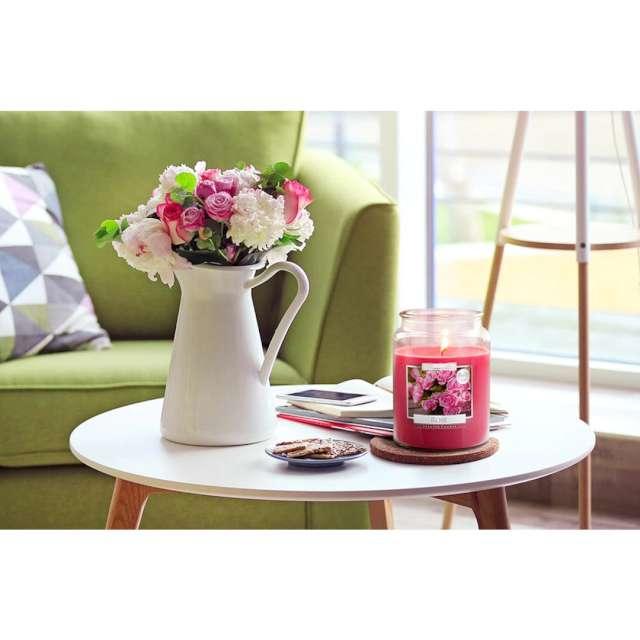 Świeca zapachowa w szkle Słoik XL - Róża Bispol 100 h 14 cm
