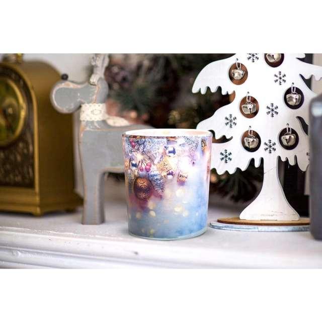 Świeca zapachowa w szkle z nadrukiem Wiosenne orzeźwienie Bispol 8 cm