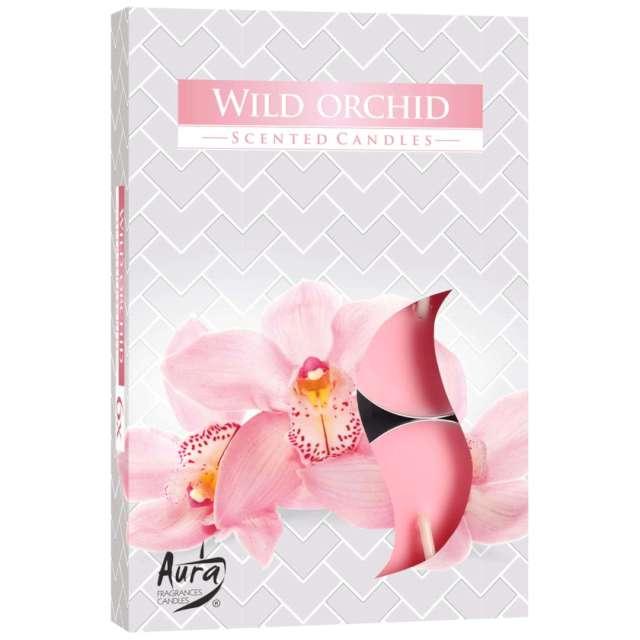 """Podgrzewacz zapachowy """"Dzika Orchidea"""", Bispol, 4h, 6 szt"""