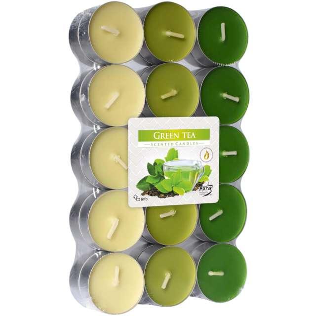 Podgrzewacz zapachowy Miks kolorów - Zielona Herbata Bispol 4h 30 szt