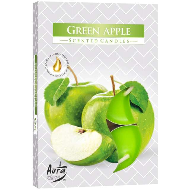"""Podgrzewacz zapachowy """"Zielone jabłko"""", Bispol, 4h, 6 szt"""