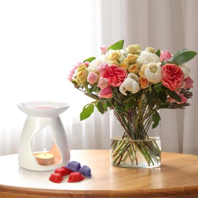 Wosk zapachowy Płatki białe kwiaty Bispol 2 szt