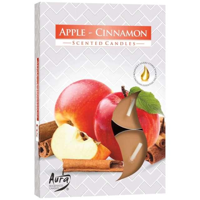 """Podgrzewacz zapachowy """"Jabłko - Cynamon"""", Bispol, 4h, 6 szt"""