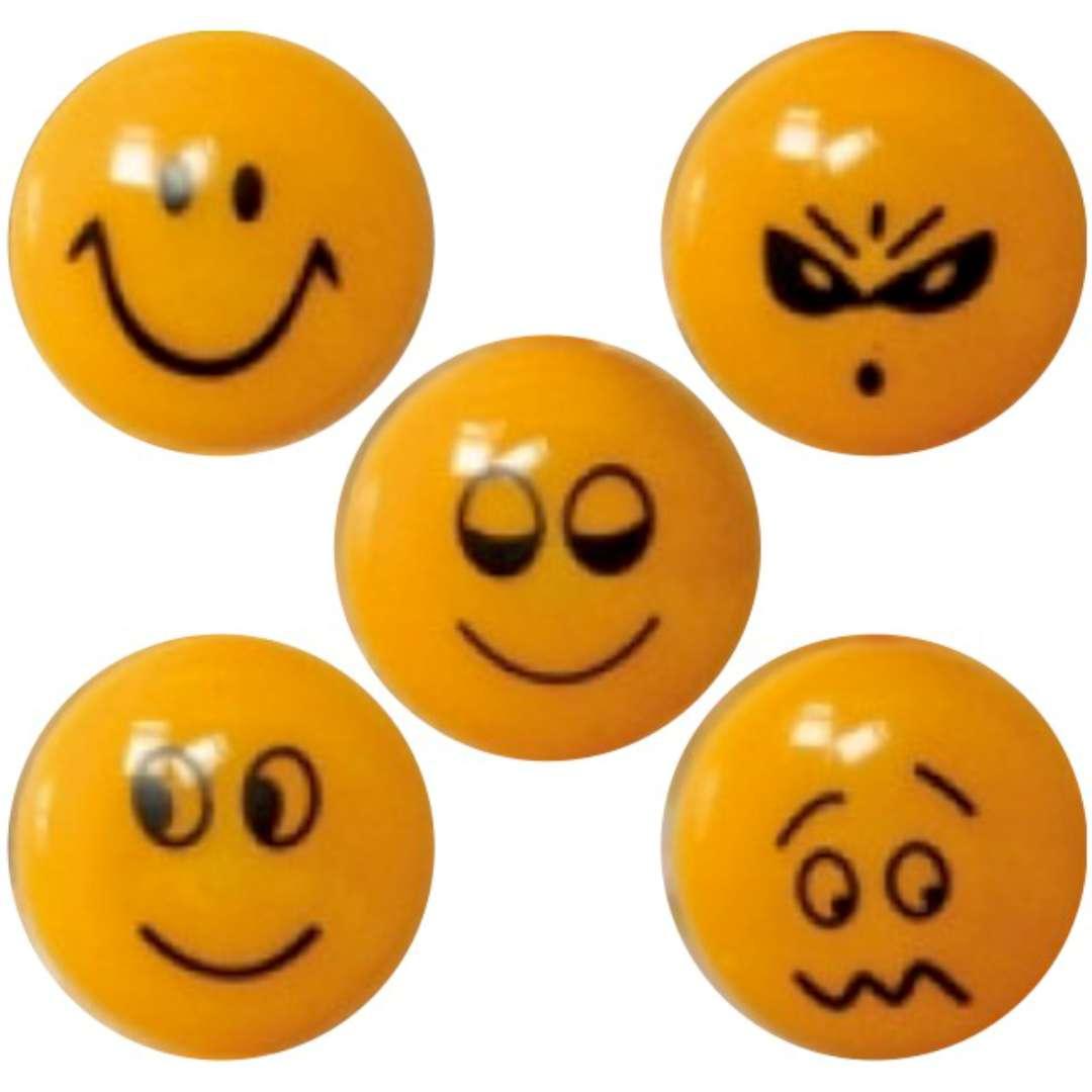 Magnesy Emoji - Uśmiech pomarańczowe Fun&Joy 29 mm. 5 szt