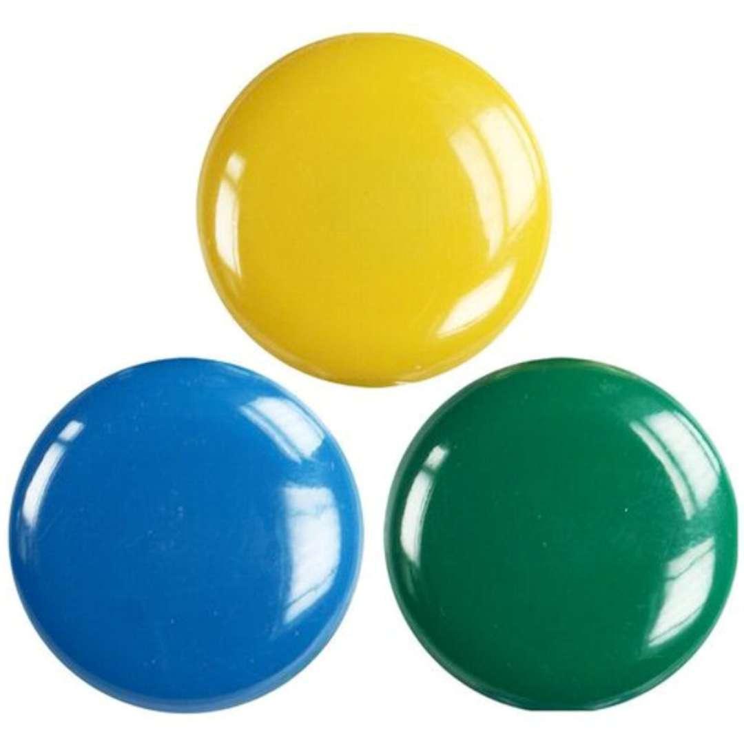 Magnesy Okrągłe XXL kolor mix Titanum 50 mm. 3 szt
