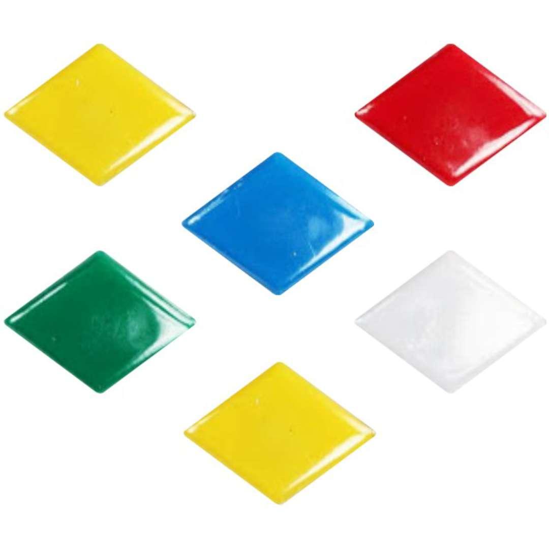 """Magnesy """"Romby"""", kolor mix, Titanum, 30 mm. 6 szt"""