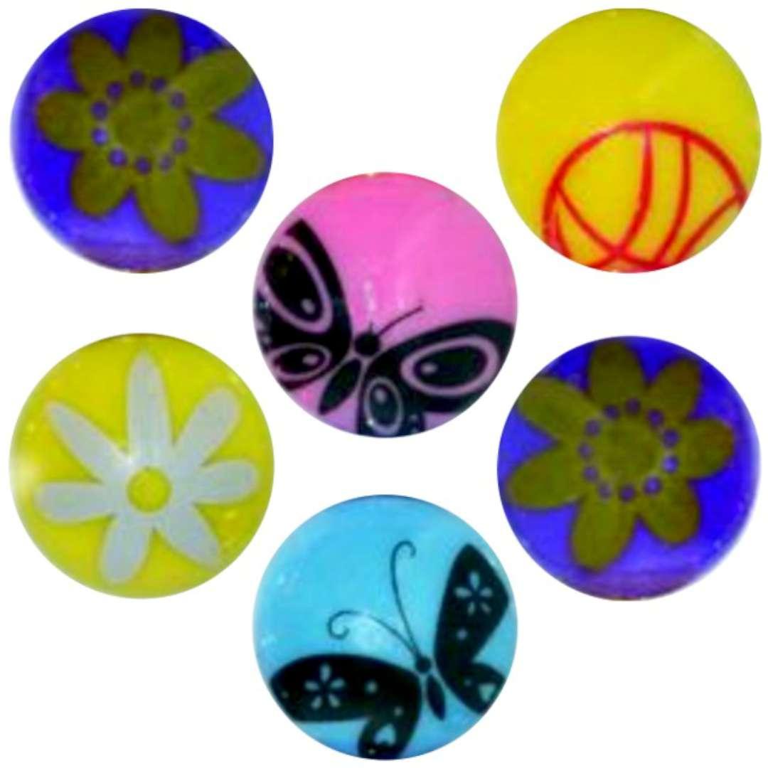"""Magnesy """"Okrągłe wiosenne wzorki"""", kolor mix, Titanum, 30 mm. 6 szt"""
