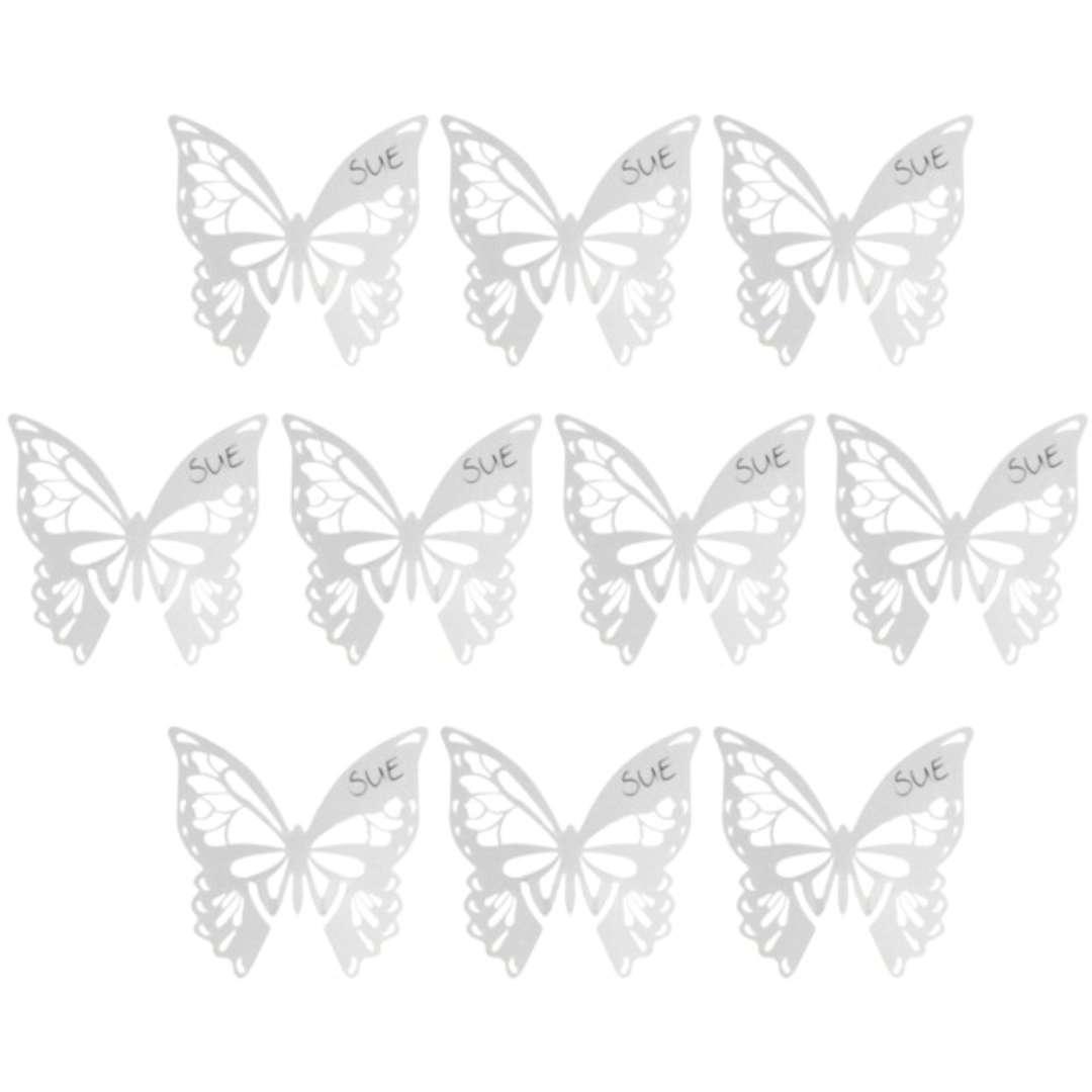 """Zawieszki na kieliszek """"Motylki-białe"""", GoDan, 10 szt"""