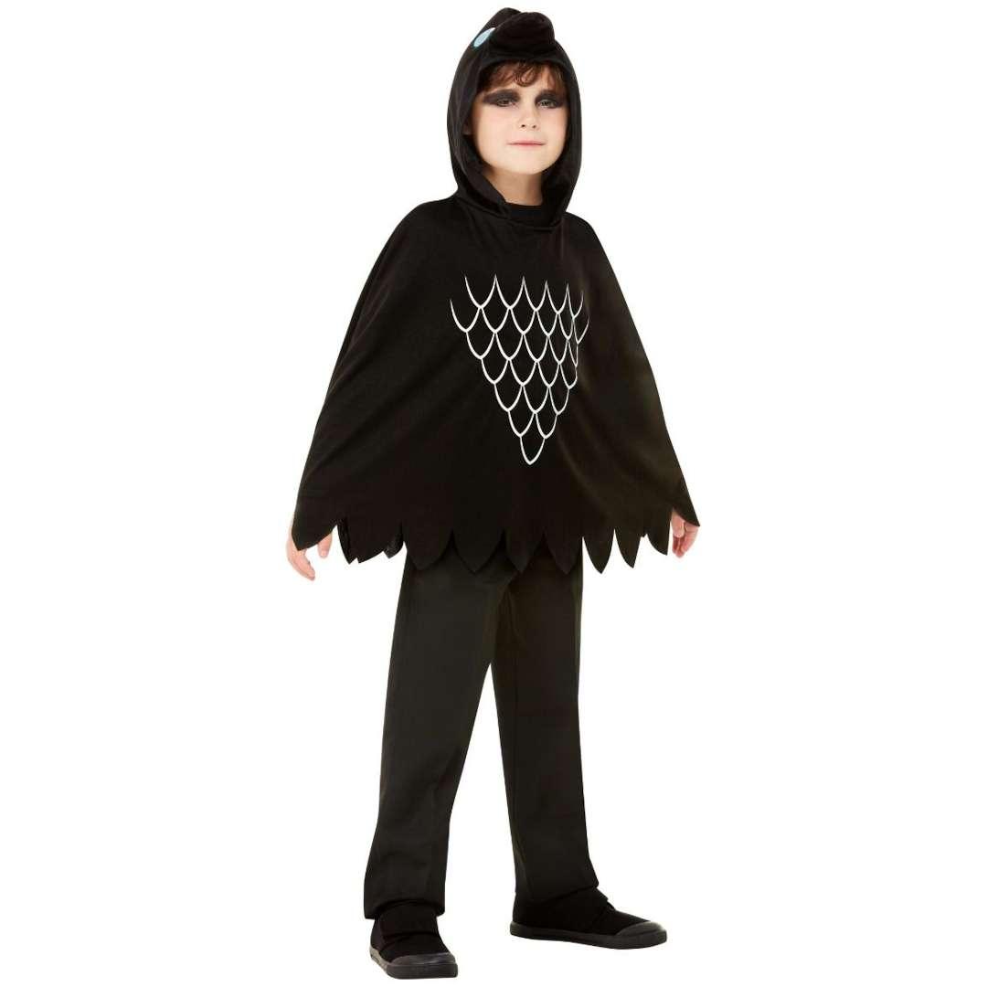 _xx_Scary Crow Poncho Black L